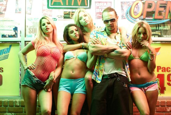 Rachel Korine, Selena Gomez, Ashley Benson, James Franco and Vanessa Hudgens star in Spring Breakers.